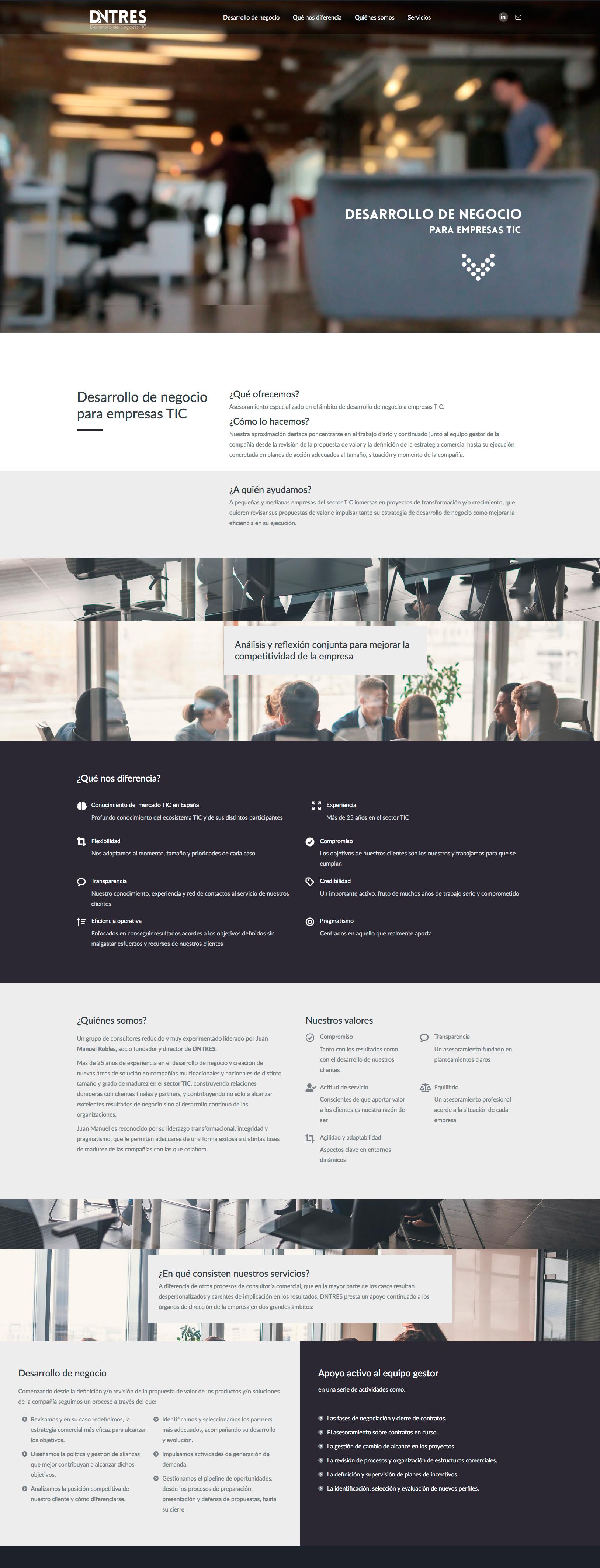 dntres - Desarrollo de negocio para empresas TIC