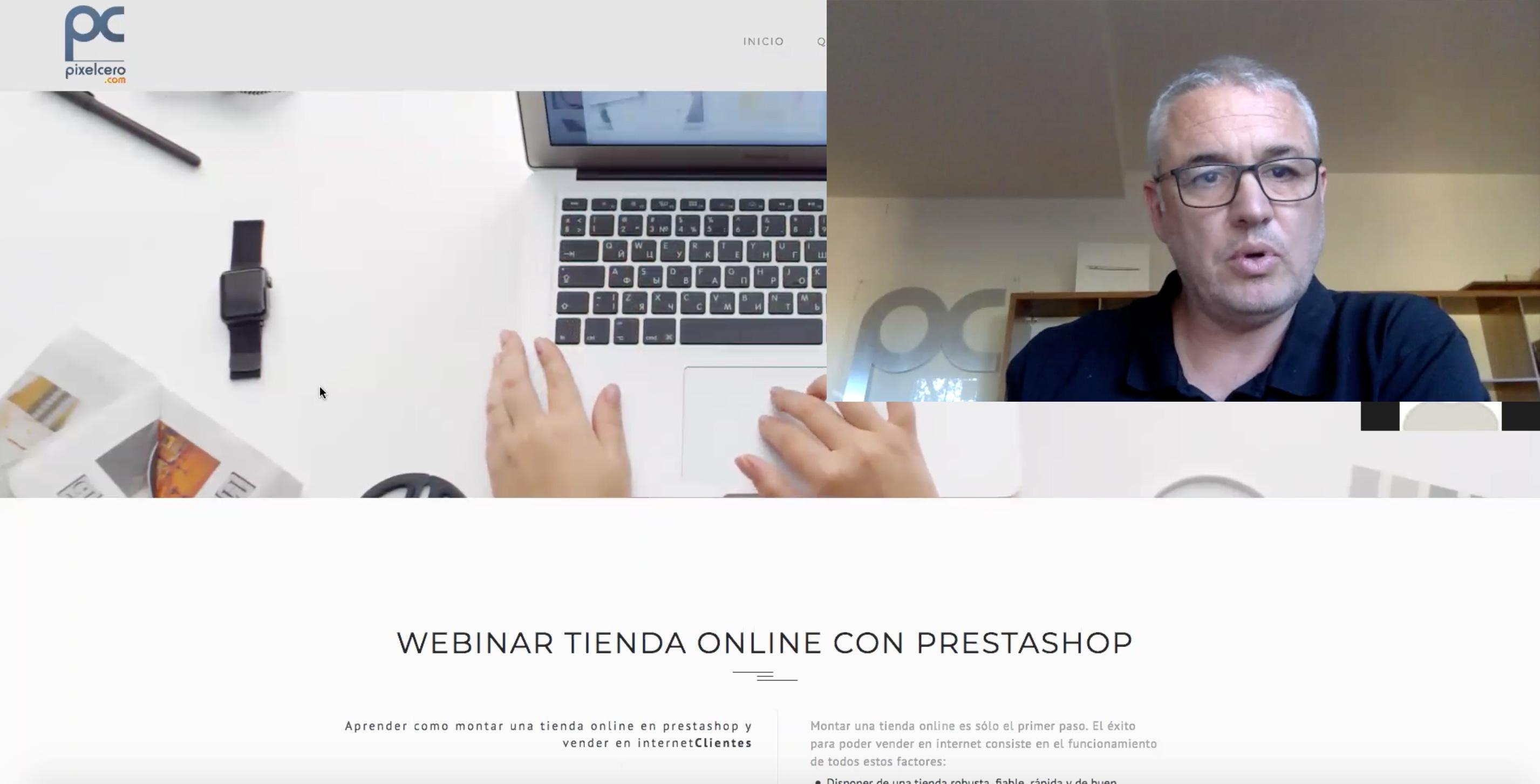 webinar tienda online prestashop